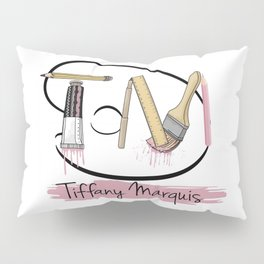 A - My Art Log (white) Pillow Sham
