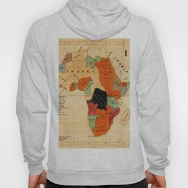 Map Of Africa 1908 Hoody
