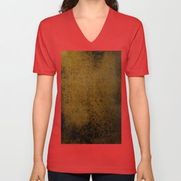 Bronze Weave - Abstract, textured, metallic, woven pattern Unisex V-Neck