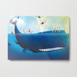 La balena Metal Print