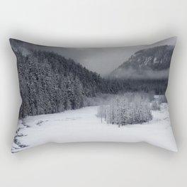 Snowy Morning Rectangular Pillow