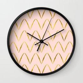 Pink Gold Foil 05 Wall Clock