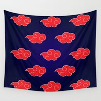 suit Wall Tapestries featuring Akatsuki Suit by bimorecreative
