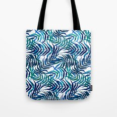 Watercolor floral pattern with palm leaves Tote Bag