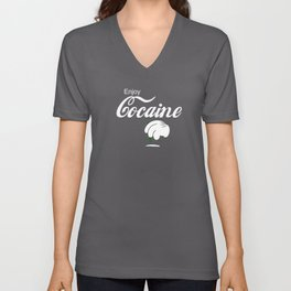 Cocaine Cocaine Tubes Drug Cocaine Accessories Unisex V-Neck