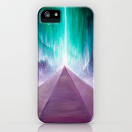 The energy of the pyramid on Mars iPhone Case