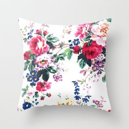 Bouquets with roses Throw Pillow
