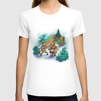 nordic T-shirts featuring Nordic Kids on white by Lori Keehner