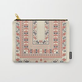 Palestinian traditional embroidery motif Carry-All Pouch
