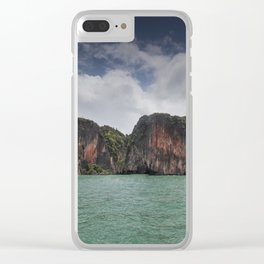 Limestone islands in Thailand Clear iPhone Case