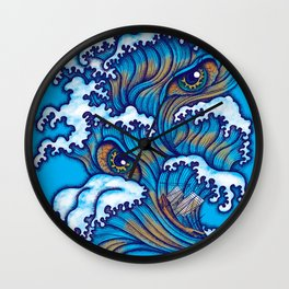 Spirit of the waves Wall Clock