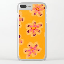 Tangerine Emily Claire Clear iPhone Case
