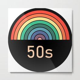 Retro rainbow 50s Metal Print