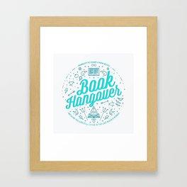 Book Hangover (Cyan) Framed Art Print