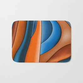 Lines Of Stained Glass Bath Mat