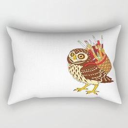 Art Owl Rectangular Pillow