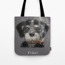 Fidel - The Havanese is the national dog of Cuba Tote Bag