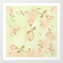 Caper Peach Chiffon Art Print