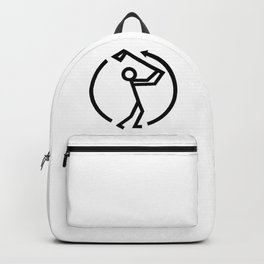 Golf Swing Icon Backpack