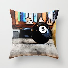 Shooting For The Eight Ball Throw Pillow