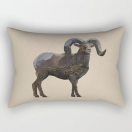The Rocky Mountain Bighorn Sheep Rectangular Pillow