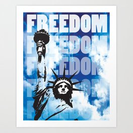 Freedom - Blue Art Print