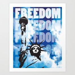 Freedom - Blue Art Print