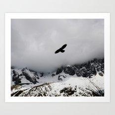 Black Over Grey Over White Art Print