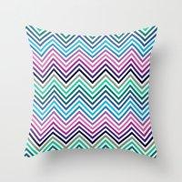 herringbone Throw Pillows featuring Herringbone by Adikt