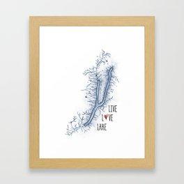 Keuka Live Love Lake Framed Art Print