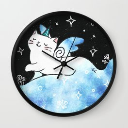 Lovely Unicorn (Blue) Wall Clock