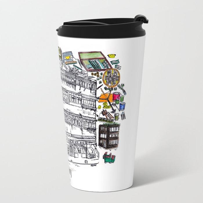 Mahjong in Hong Kong Travel Mug