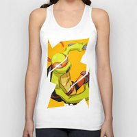 mike wrobel Tank Tops featuring Mike TMNT by zeoarts