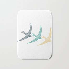 Bird Native birds songbird swallow gift Bath Mat