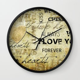 Love2 Wall Clock