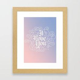 3 Little Words Framed Art Print