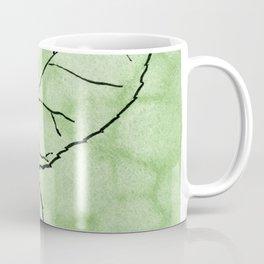 Two Leaves on Green Coffee Mug