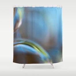Glass Abstract  - JUSTART © Shower Curtain