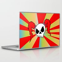 rock n roll Laptop & iPad Skins featuring Rock-N-Roll Brat  by Los Espada Art