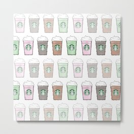 Watercolor Frappuccino Multi Metal Print