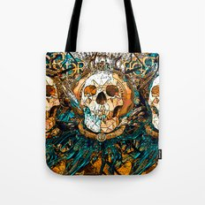Old Skull Tote Bag