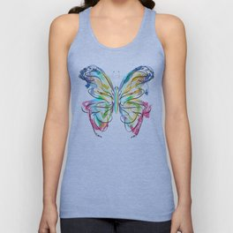 Colorful Butterfly Unisex Tank Top