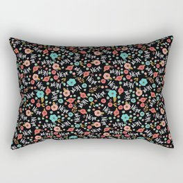 Pretty Not-So-Sweary: Nope, Night Rectangular Pillow