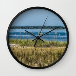 Relax on the Island Wall Clock