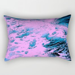 415 2 Pink and Blue Ocean Rectangular Pillow