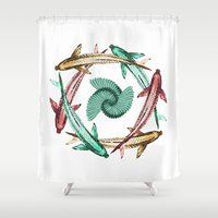 circle Shower Curtains featuring Circle by DebS Digs Photo Art