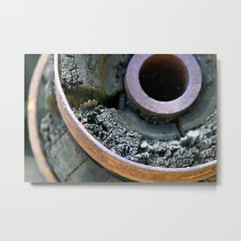 Wooden Wheel Metal Print