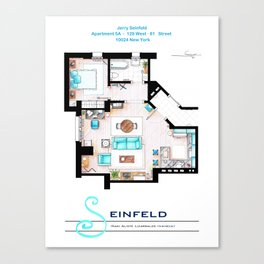 Jerry Seinfeld Apartment v2 Canvas Print