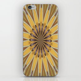 Yellow and Ochre Flower Pattern Abstract iPhone Skin