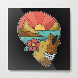 Skull Landscape Metal Print